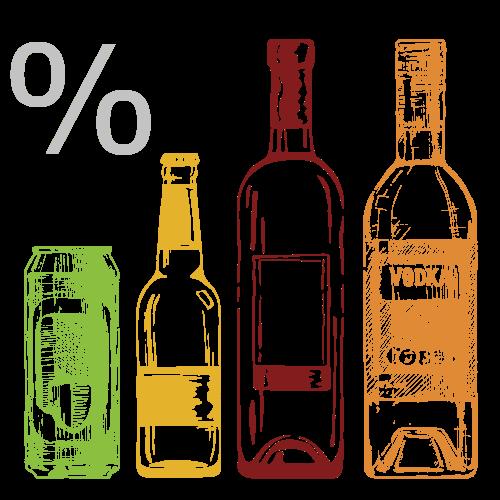 Drawn liquor Alcohol Sunrise History of Percentages