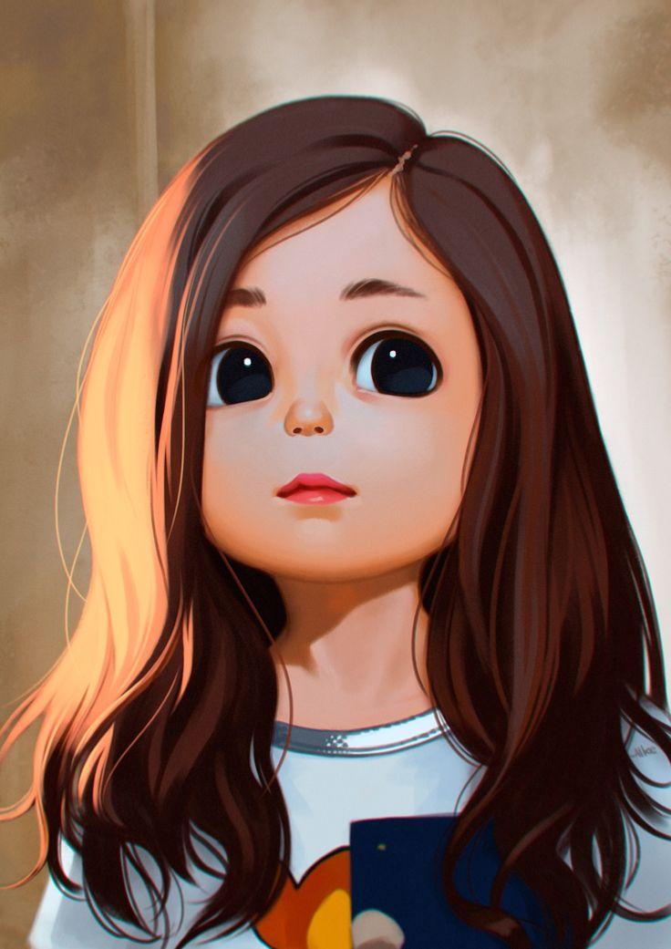 Drawn little girl Pinterest  Little drawing Best