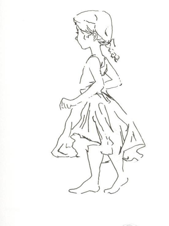 Drawn little girl DrawingSimple An Busch Body Of