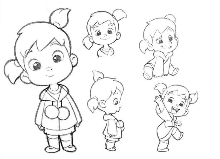 Drawn little girl By drawing Little Pinterest girl
