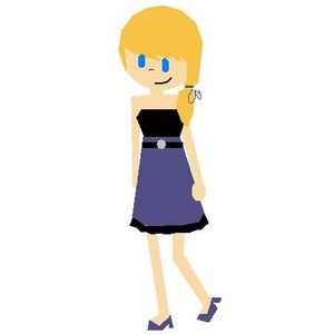 Drawn little girl Girl little Polyvore dress! by