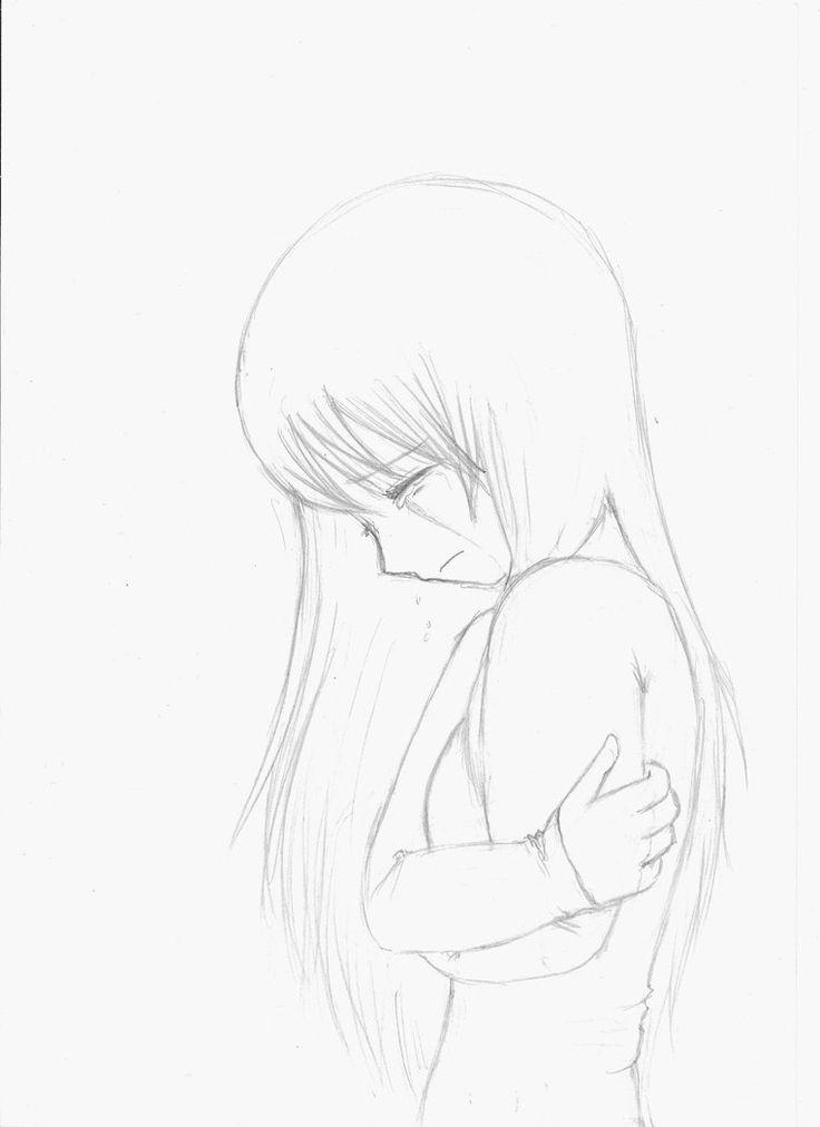 Drawn sad anime Crying Best girl Pinterest girl