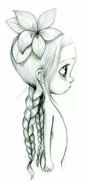 Drawn little girl child Zeichnung drawing Pinterest Best Beste