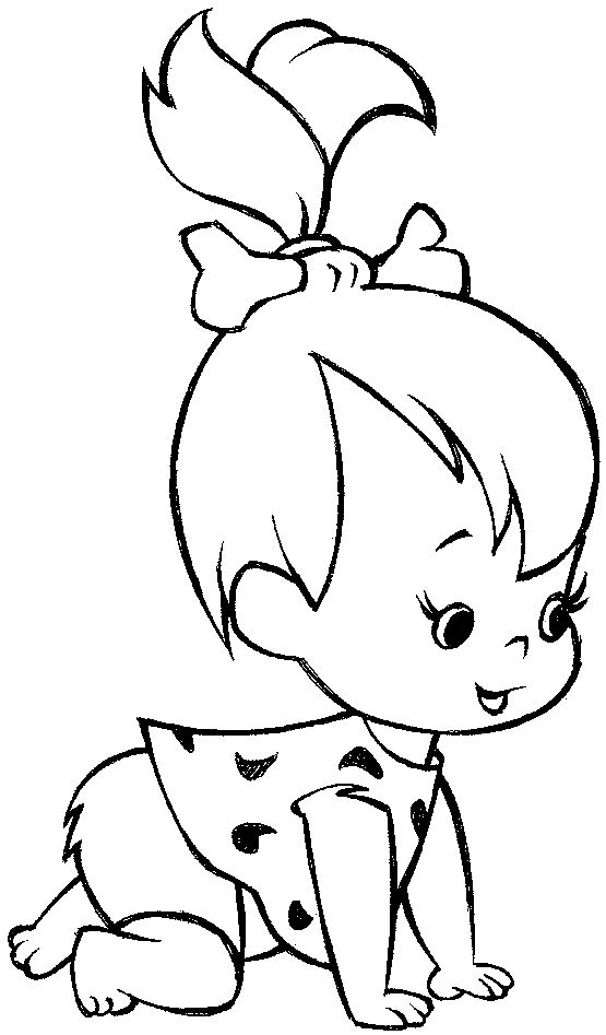 Drawn little girl step by step Pebbles 25+ Best ideas Pinterest