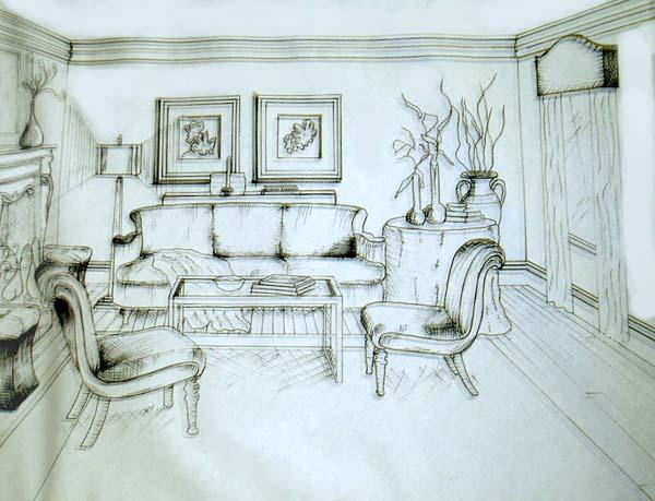 Drawn living room Room Room Living living jpg