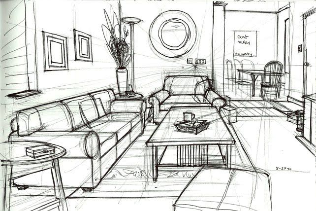 Drawn living room Search room drawing point living