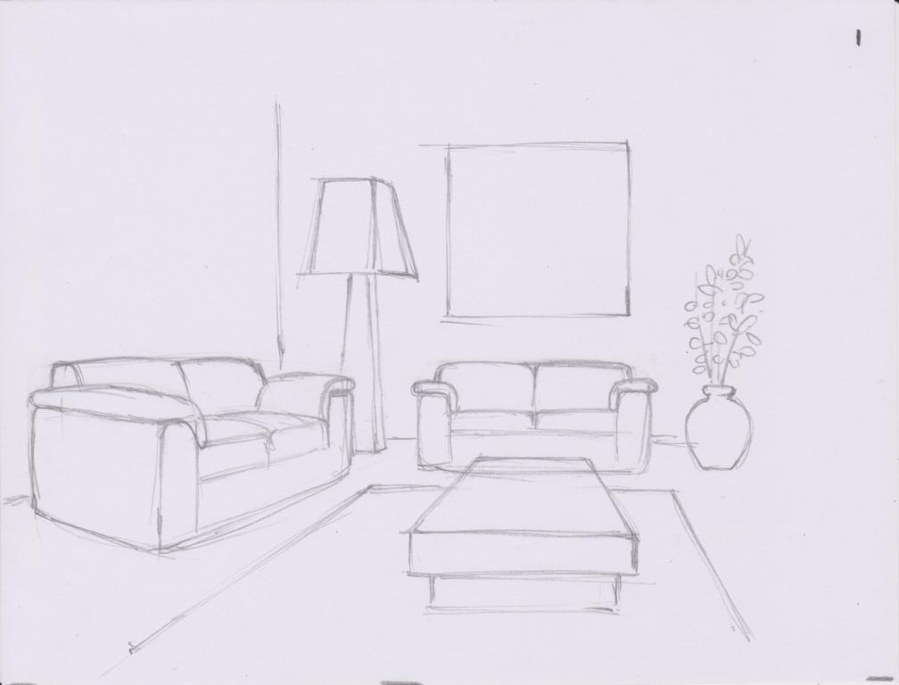Drawn living room Of make based IHIIIR: TO