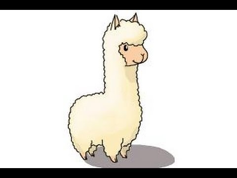 Drawn llama Llama  Draw Body Cartoon