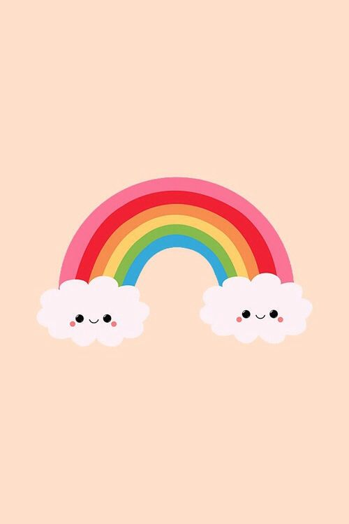 Drawn rainbow cute Pinterest wallpaper a on Kawaii
