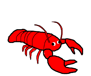 Drawn lobster Lobster by Derp eye (drawing