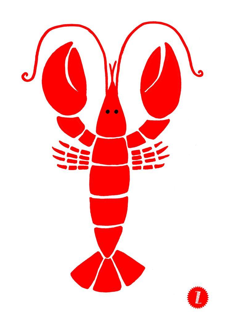 Drawn lobster Es/2013/ 25+ on drawing ideas