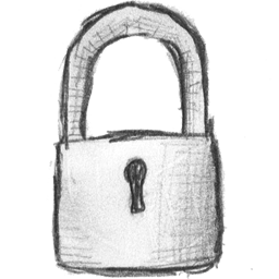 Drawn lock Hand (Icon Search Engine) locked