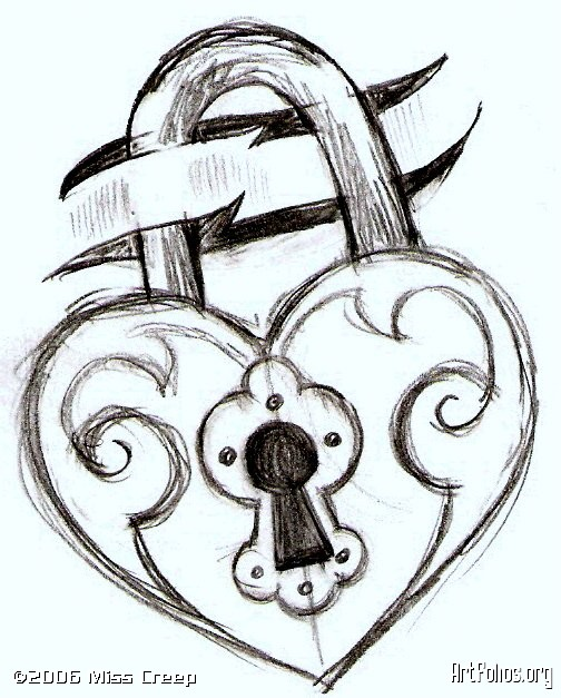 Drawn lock Simple and just for just