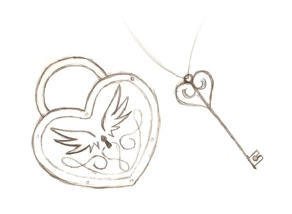 Drawn hearts lock And MaNiAcKiLlEr13 heart lock by