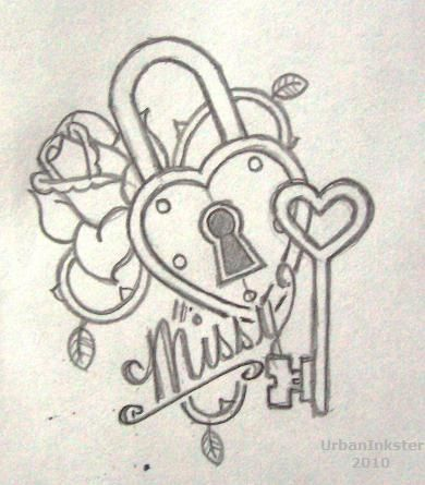 Drawn hearts lock Key Best 25+ tattoos Search