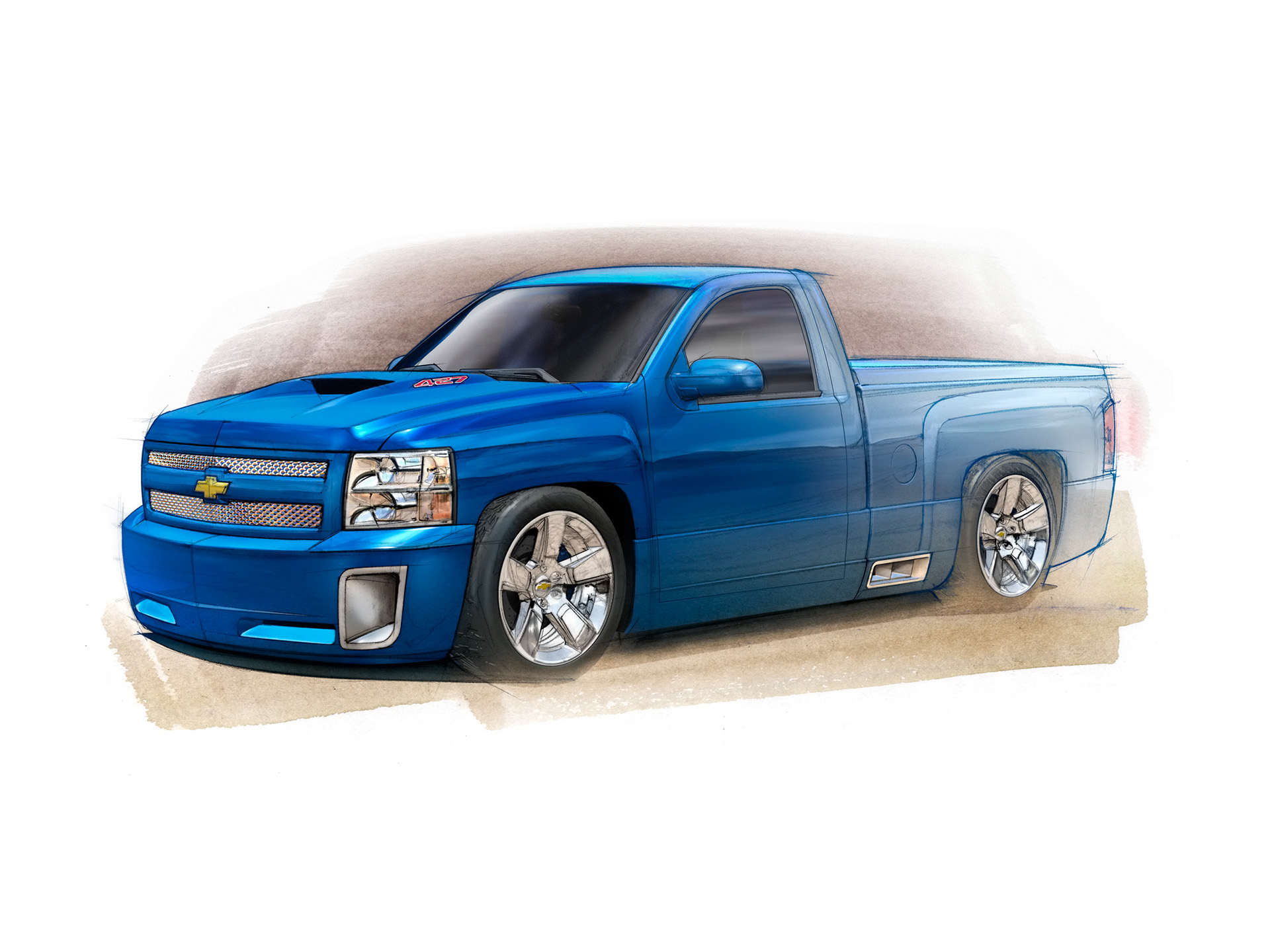 Drawn truck chevy Art on Car images Drawing