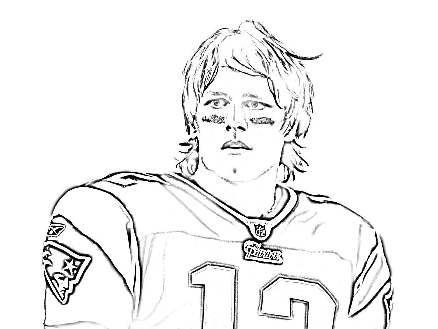 Drawn football coloring page nfl Page Best With Coloring Archives