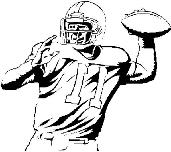 Drawn football nfl football Football player Ball throw NFL
