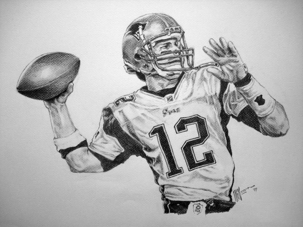 Drawn football nfl football On football Tom Brady images