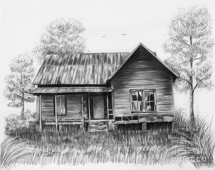 Drawn house abandoned house On 25+ House drawing Pinterest