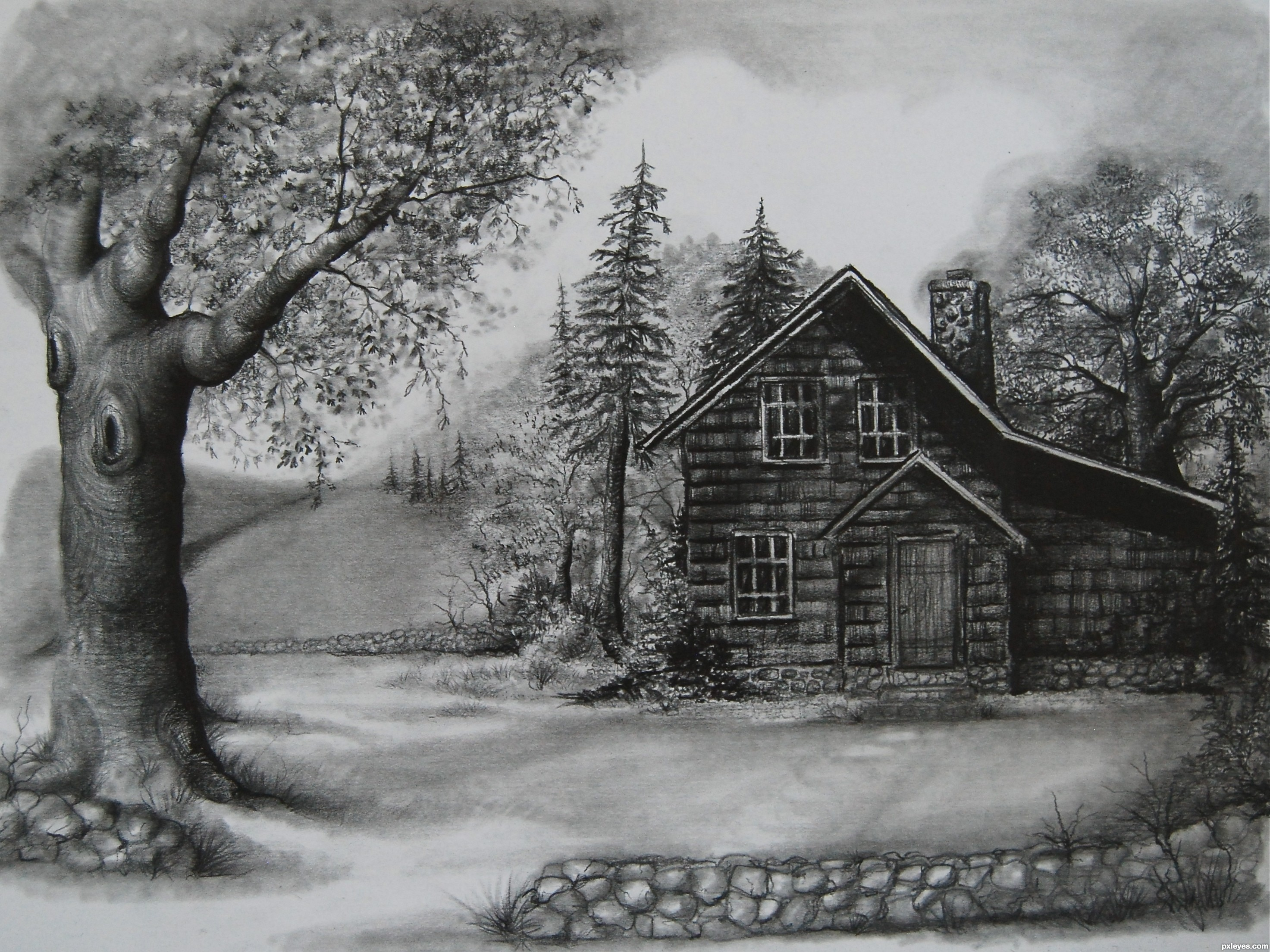 Drawn scenery outstanding With Types for sceneries pencils