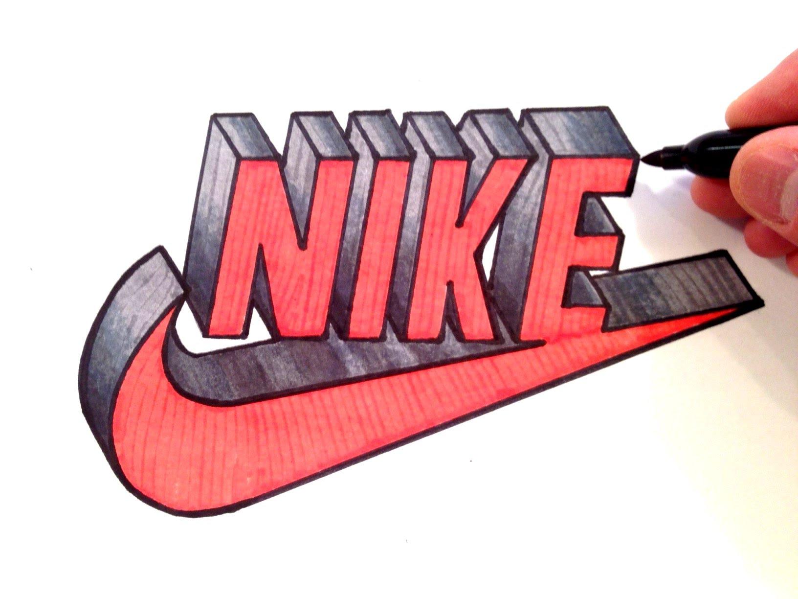 Drawn shoe nike sign How YouTube 3D Logo Nike