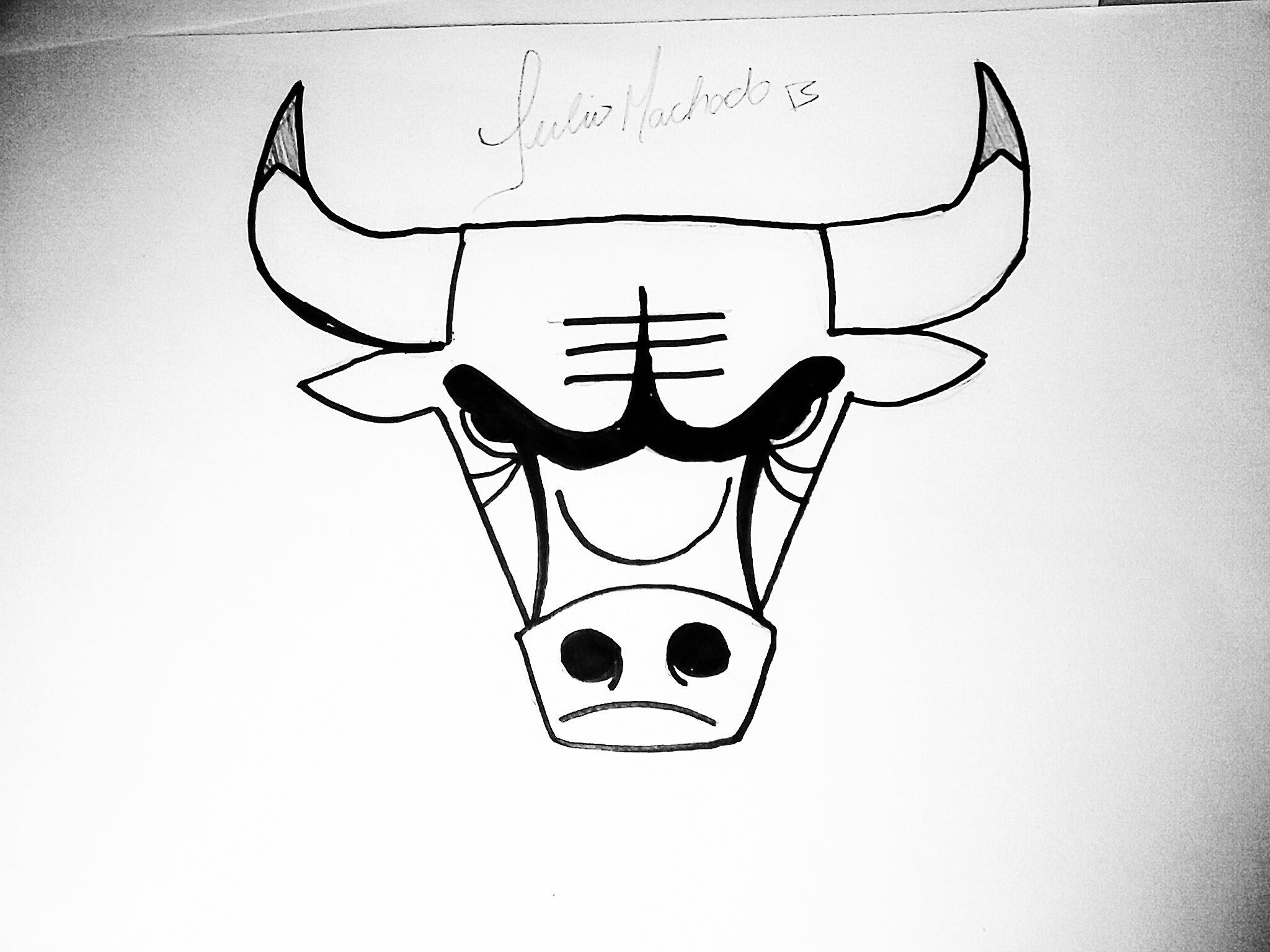 Drawn bull easy How YouTube to NBA] Draw