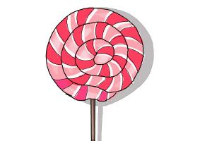 Drawn lollipop Step How Draw DrawingNow Drawing