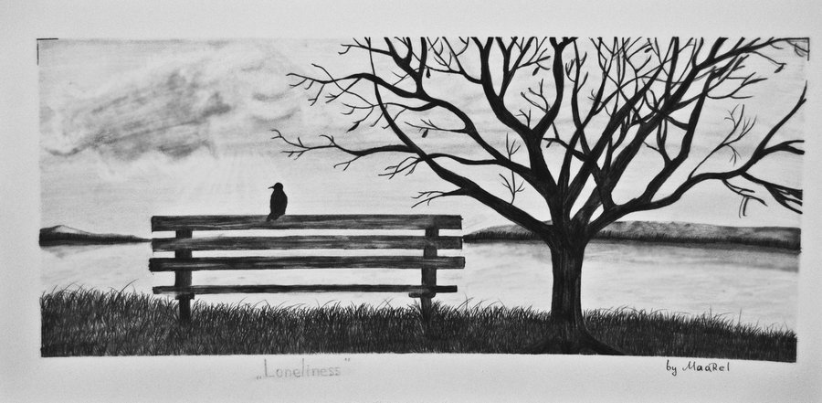 Drawn lonely Of Tree by DeviantArt Maarel