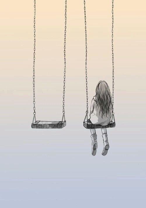 Drawn lonely Eres sola por no tu