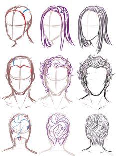 Drawn long hair 93 long Hair the com