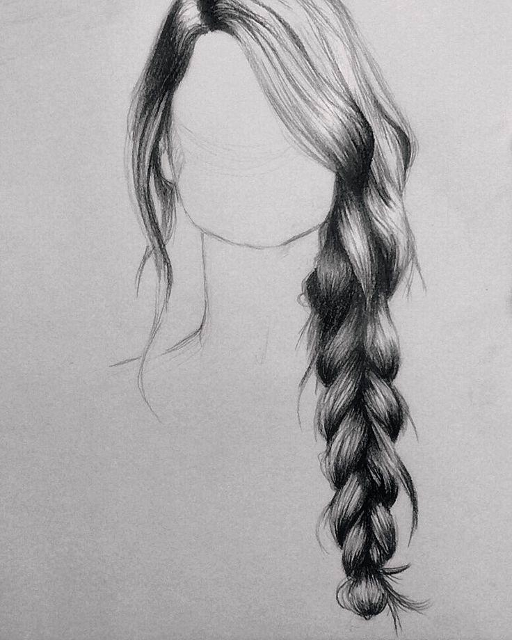Drawn long hair  pencil How draw Pinteres…