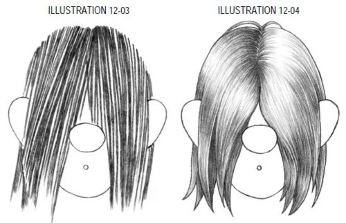 Drawn long hair Long Long Straight Comic Straight