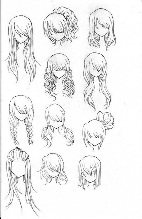 Drawn long hair To Pinterest how Best