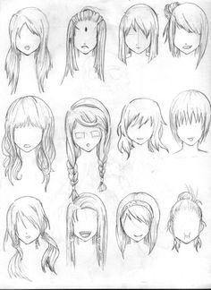 Drawn long hair Com Hair hair drawing I