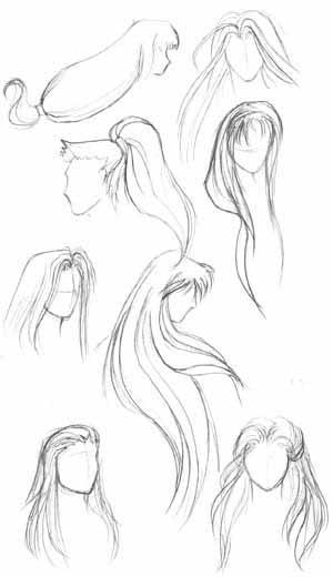 Drawn long hair Be some anime Here longer