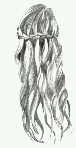 Drawn braid pencil drawing On best Pinterest Waterfall Drawings