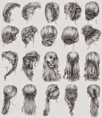 Drawn braid straight hair On Pin ideas drawing on