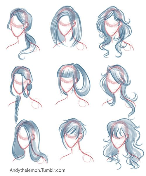 Drawn hair simple #5