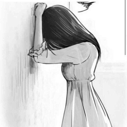Drawn sad anime On Easy #mirealidad Sad Pinterest