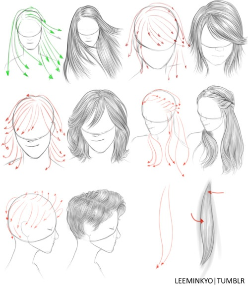 Drawn hair simple #2