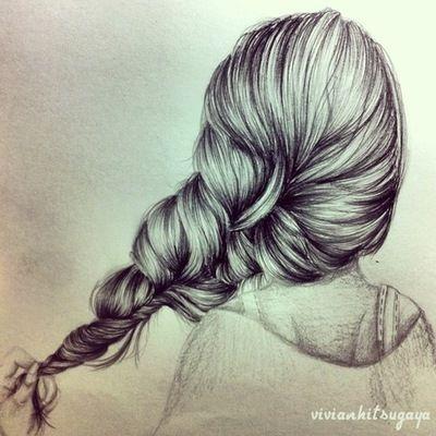 Drawn braid art hair Like 136 I Pinterest wish