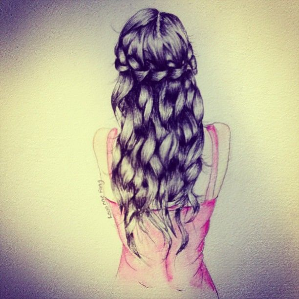 Drawn braid straight hair Girly on doodle best have