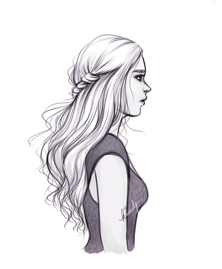 Drawn profile hair And Draw / this Illustration