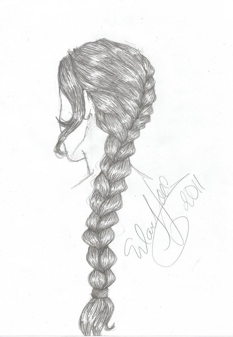 Drawn braid art hair Draw TO > Pinterest drawing