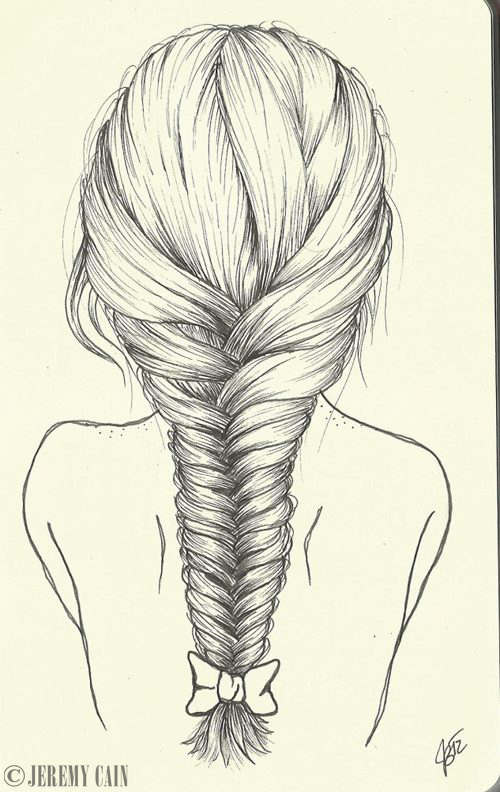 Drawn braid braided hair Google cartoon face Search with