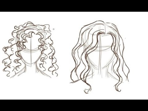 Drawn long hair straight Hair YouTube To  How
