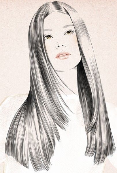 Drawn long hair straight Pinterest images Drawing on best