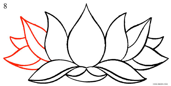 Drawn lotus Flower Pictures) How 8 Draw