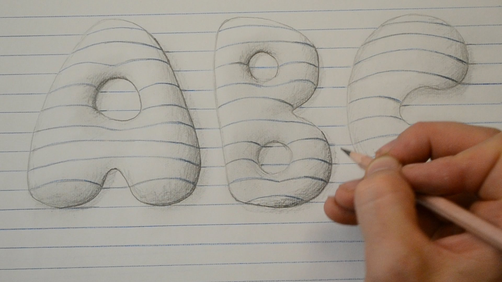 Drawn 3d art finger #3